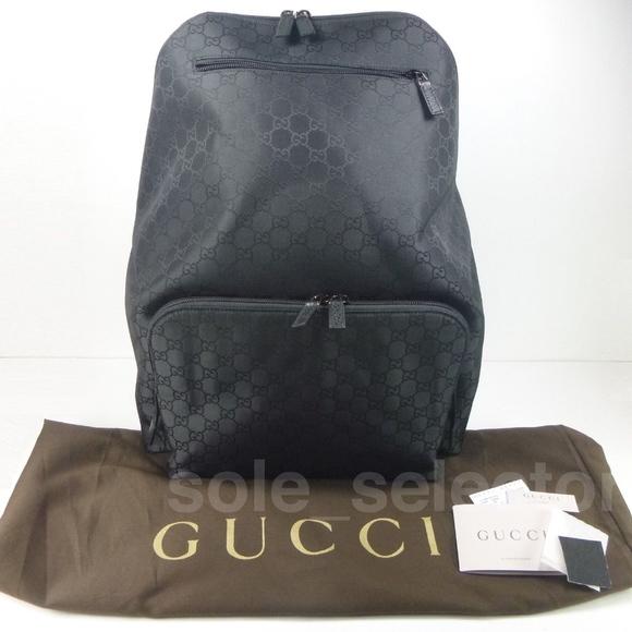 94d3df608fb Gucci Bags   Nwt Nylon Gg Ssima Backpack Blk 179606   Poshmark